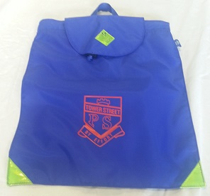 Library bag with school crest